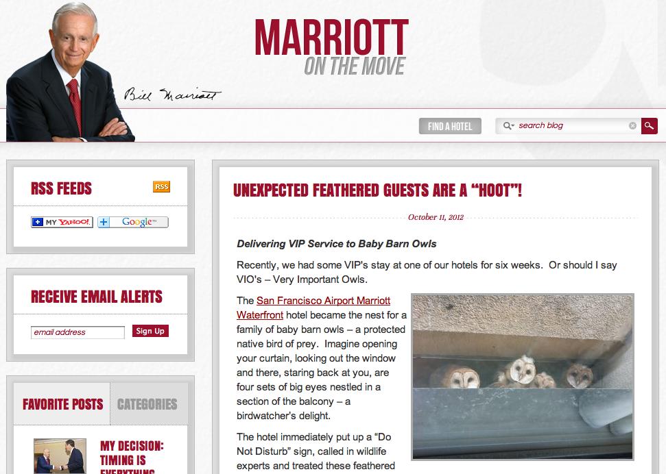 Bill Marriott CEO Blog